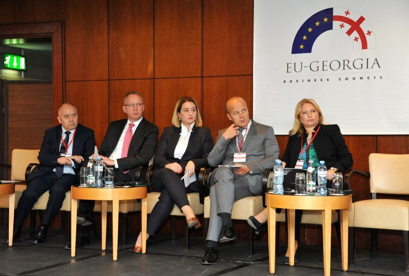 Ambassadors of V4 countries in Georgia and Natia Turnava, Deputy CEO, Partnership fund
