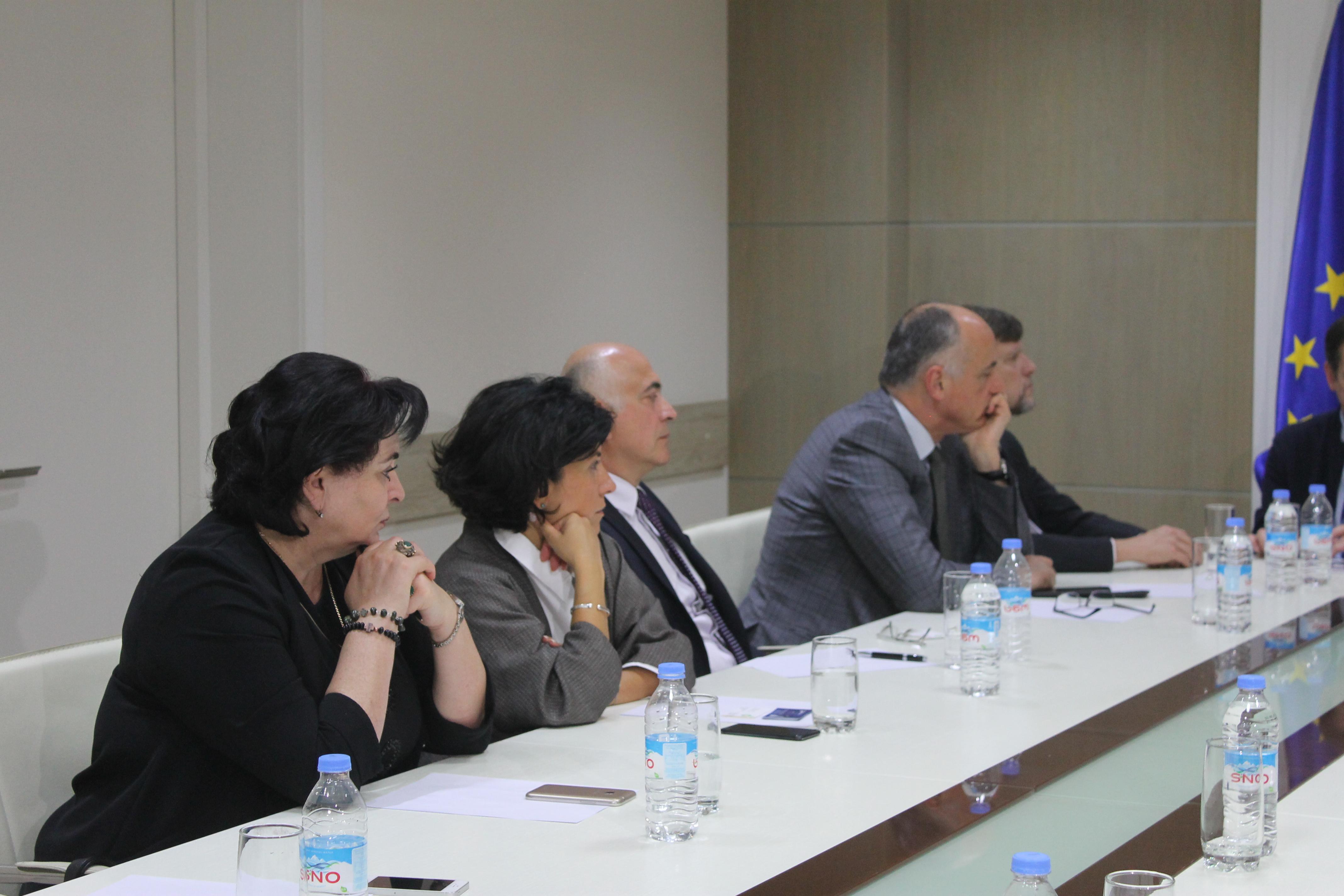 EUGBC members met Victor Dolidze